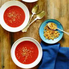 Cranberry Soup with Curried Breadcrumbs from Giada De Laurentiis