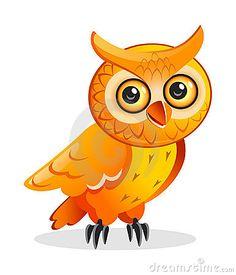 Cartoon owl Stock Images