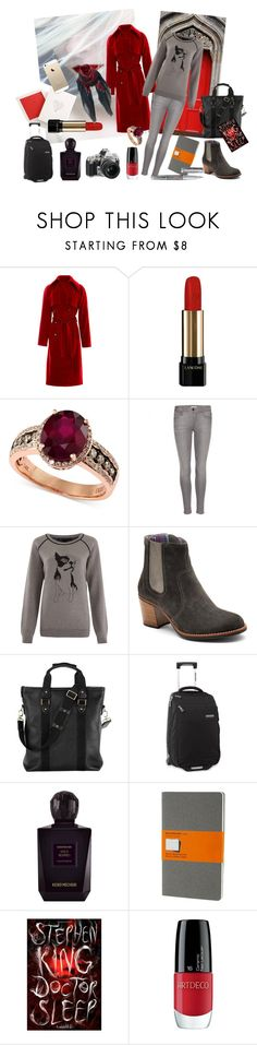 """""""Travelling chic and in love"""" by nathalie-puex ❤ liked on Polyvore featuring Nikon, Rosie Assoulin, Lancôme, Effy Jewelry, Burberry, Marc by Marc Jacobs, Sperry, Vassilisa, Aspinal of London and Burton"""