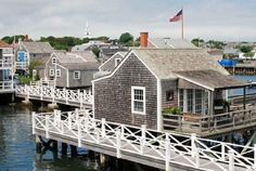 New England Style Cottages over the Water.