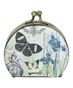 Look what I found on #zulily! Blue Butterfly Compact Mirror by Passion for Fashion #zulilyfinds