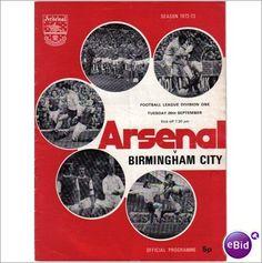 Arsenal v Birmingham City 26/09/1972 Division 1 Football Programme Sale