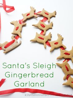 Handmade Holiday: Gingerbread Cookie Garland