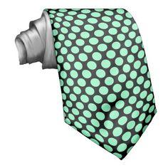 Shop Black Mint Green Polka Dots Neck Tie created by stdjura. Polka Dot Wedding, Polka Dot Tie, Pastel Mint, Neckties, Black Tie, Black Backgrounds, Mint Green, Graphic Design, Ideas