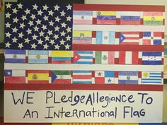 (NWO) American Flag Desecrated With Allegiance To One World Government A...