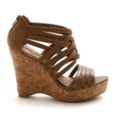 Ollio Women's Wedge Platform Heels Sandal Multi-Color Shoes - I WANT THIS! but theres no moree colors :/