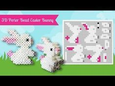 Laceys Crafts is all about sharing super simple and adorable crafts for kids. images for kids How To Make A Cute Perler Bead Easter Bunny Perler Bead Designs, Perler Bead Templates, Hama Beads Design, Diy Perler Beads, Perler Bead Art, Melty Bead Patterns, Pearler Bead Patterns, Perler Patterns, Beading Patterns