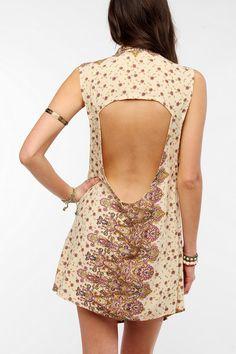 Tallow Mystree Sleeveless Open-Back Shirtdress Online Only