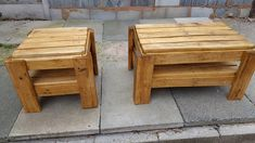 Pallet wood coffee table and matching side table. Made by me  *medium oak stained. Tristan Tennant
