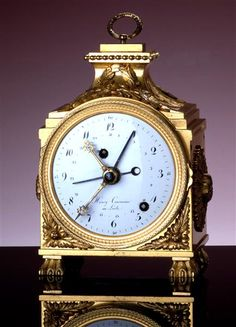 Small ornate table clock, Courvoisier, Henri (maker) Le Locle, circa 1775
