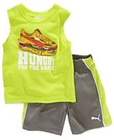 Puma Baby Set, Baby Boys 2-Piece Hungry Tank and Shorts