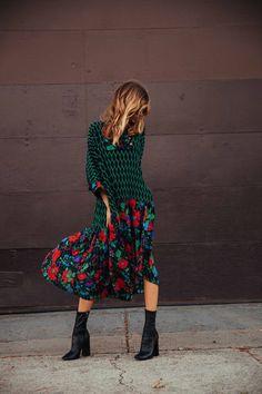 ccfdaacc Robe KENZO H&M Floral Print Skirt, Casual Fall, Love Fashion, Daily Fashion,