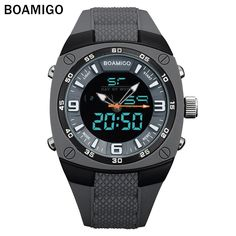 Mens Dual Quartz Digital Wrist Watch - 30M Waterproof - Multi Color Watches  For Men 256f4897f3