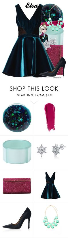 """""""Elsa"""" by amarie104 ❤ liked on Polyvore featuring Deborah Lippmann, NARS Cosmetics, First People First, BERRICLE, Jimmy Choo, Emilio De La Morena and Topshop"""
