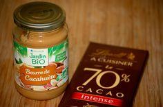 Snacks chocolat & beurre de cacahuète #RecetteFacile