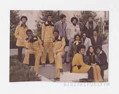 Alpha Phi Alpha fraternity brothers at Winston-Salem State University for the academic year 1975-1976.