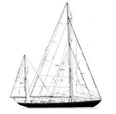 "John F Kennedy's yacht ""Manitou"", an 62 ft Olin Stephen's cutter-rigged bermudan yawl (via www.classicboat.co.uk)"
