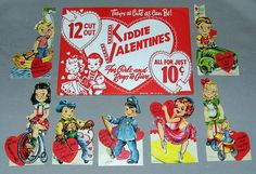 Packet of Vintage Kiddie Cut-Out Valentines, All for Just …   Flickr