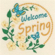 Welcome Spring (CD021512TL) Embroidery Design by Starbird Inc.
