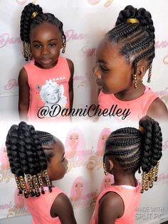 Cute little girl hairstyle Hairstyles for my girls Black kids black girl hair styles braids - Hair Style Girl Little Girl Braid Styles, Cute Little Girl Hairstyles, Black Kids Hairstyles, Kid Braid Styles, Little Girl Braids, Baby Girl Hairstyles, Natural Hairstyles For Kids, Black Girl Braids, Kids Braided Hairstyles