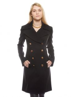 Black Trench by Alexander McQueen. I need this!