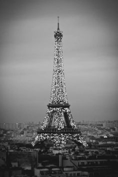 Eiffel Tower sparkles