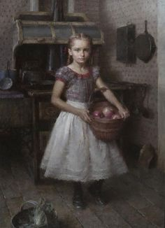 """""""Anna's Kitchen"""" by Morgan Weistling. My daughter is the model for """"Anna""""."""