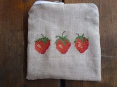 Gorgeous hand stitched pure linen pouch hand от LinenGin на Etsy