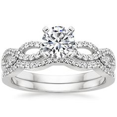 I had to post this..holy moly 18K White Gold Infinity Diamond Ring from Brilliant Earth