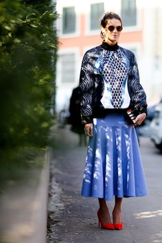 Helena Bordon at Milan Fashion Week. #Streetstyle Fall 2014 #MFW