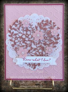 Stampin' in the Sand: Card: Simply Stamp It Challenge Stampin Up bloomin heart die . know what I love sale a bration. Wedding Anniversary Cards, Wedding Cards, Valentine Love Cards, Valentines, Simply Stamps, Engagement Cards, Stamping Up Cards, Mothers Day Cards, Heart Cards