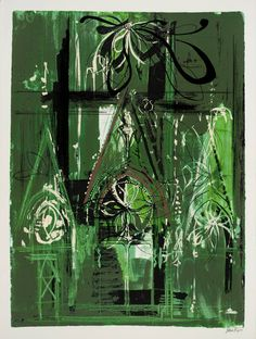 'Abbeville' (1972) by British artist John Piper (1903-1992). Screenprint on paper, 800 x 600 mm. via the Tate