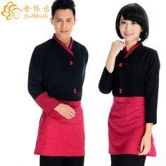 de primavera y otoño el restaurante del hotel uniformes de camarero y camarera