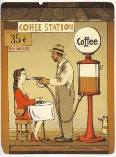 coffee station -- remember to have fun in the design