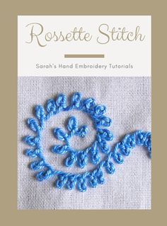 This is a wonderful looking stitch. Each loop drops vertically from the stitch line, instead of lying on it. The way the loop is twisted gives it a knotted… Creative Embroidery, Learn Embroidery, Embroidery Hoop Art, Cross Stitch Embroidery, Embroidery Fashion, Hand Embroidery Patterns Flowers, Embroidery Stitches Tutorial, Embroidery Techniques, Embroidery Ideas