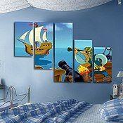 Картины и панно ручной работы. Ярмарка Мастеров - ручная работа Пираты. Handmade.
