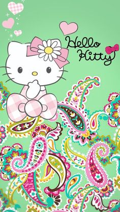 Trendy Flowers Wallpaper For Phone Vera Bradley 45 Ideas Iphone Wallpaper Vera Bradley, Flower Wallpaper, Wallpaper Backgrounds, Phone Backgrounds, Sanrio, Phone Background Patterns, Hello Kitty Collection, Hello Kitty Wallpaper, Zipper Bags