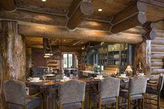 : Handcrafted Log Homes » Ogden Handcrafted Log Home » Wyoming Kitchen