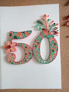 quilling card birthday 50 de ma propre inspiration