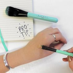 #ProTip time! Warm your concealer on the back of your hand before applying for ultimate blendability using the Conceal It brush  #mua #bblogger #bbloggers #bbloggeruk #makeupaddicts #beautyaddicts #lottielondon #mylottielondon #selfiereadybeauty #fb