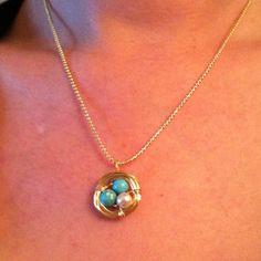 My DIY bird nest pendant :)