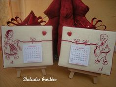 idée de finition <3 (mini calendars available in french, portuguese and english here : http://www.atelier196.com/PBSCCatalog.asp?ItmID=2606335)