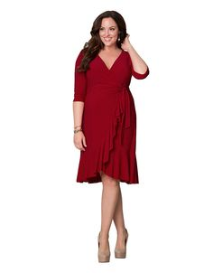 Whimsy wrap dress by Kiyonna | Lane Bryant $98
