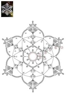 How To Knit: Crochet snowflakes, free crochet pattern Crochet Snowflake Pattern, Crochet Motif Patterns, Crochet Stars, Crochet Snowflakes, Granny Square Crochet Pattern, Crochet Diagram, Thread Crochet, Filet Crochet, Crochet Doilies