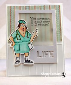 Art Impressions Rubber Stamps - Nurse Norma by Sherry Eckblad
