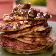 ... fig and pistachio compote orange ricotta pancakes with caramelized fig