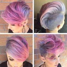 So fly.  Pretty in pink @beautybylena916 via @katiezimbalisalon  #bangs…