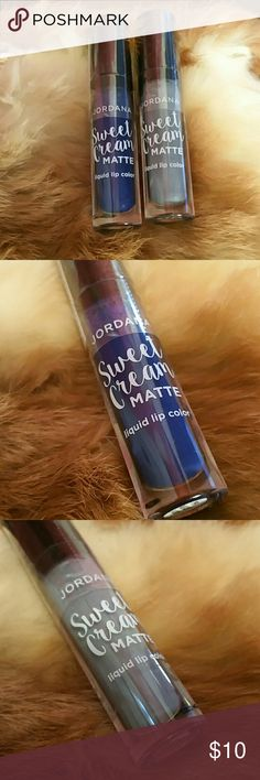 Jordana Sweet Cream Matte Liquid  Lip Color New and sealed  Colors are Fantasy Fairy and Zombie  Queen  Can not swatch Jordana  Makeup Lipstick