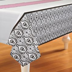 Elegant Princess Damask Plastic Tablecover from BirthdayExpress.com