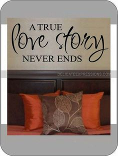 A True Love Story Never Ends  Vinyl by DelicateExpressions on Etsy